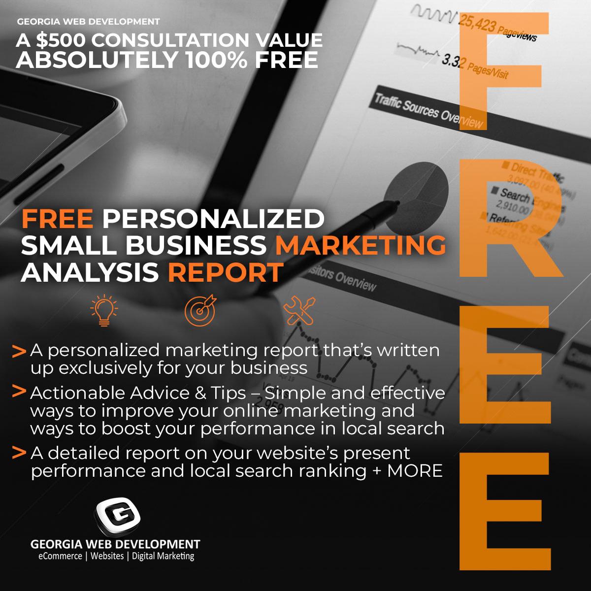 image of FREE-Expert-Small-Business-Marketing-Analysis-&-Tips-Offer-Georgia-Web-Development