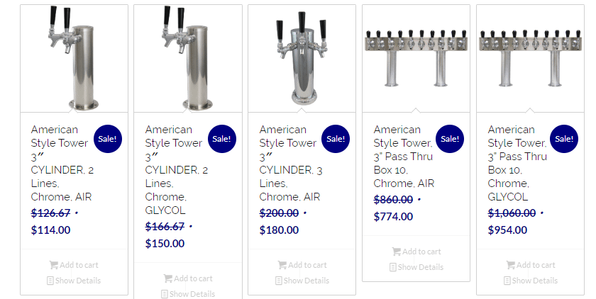 example of ecommerce sale pricing