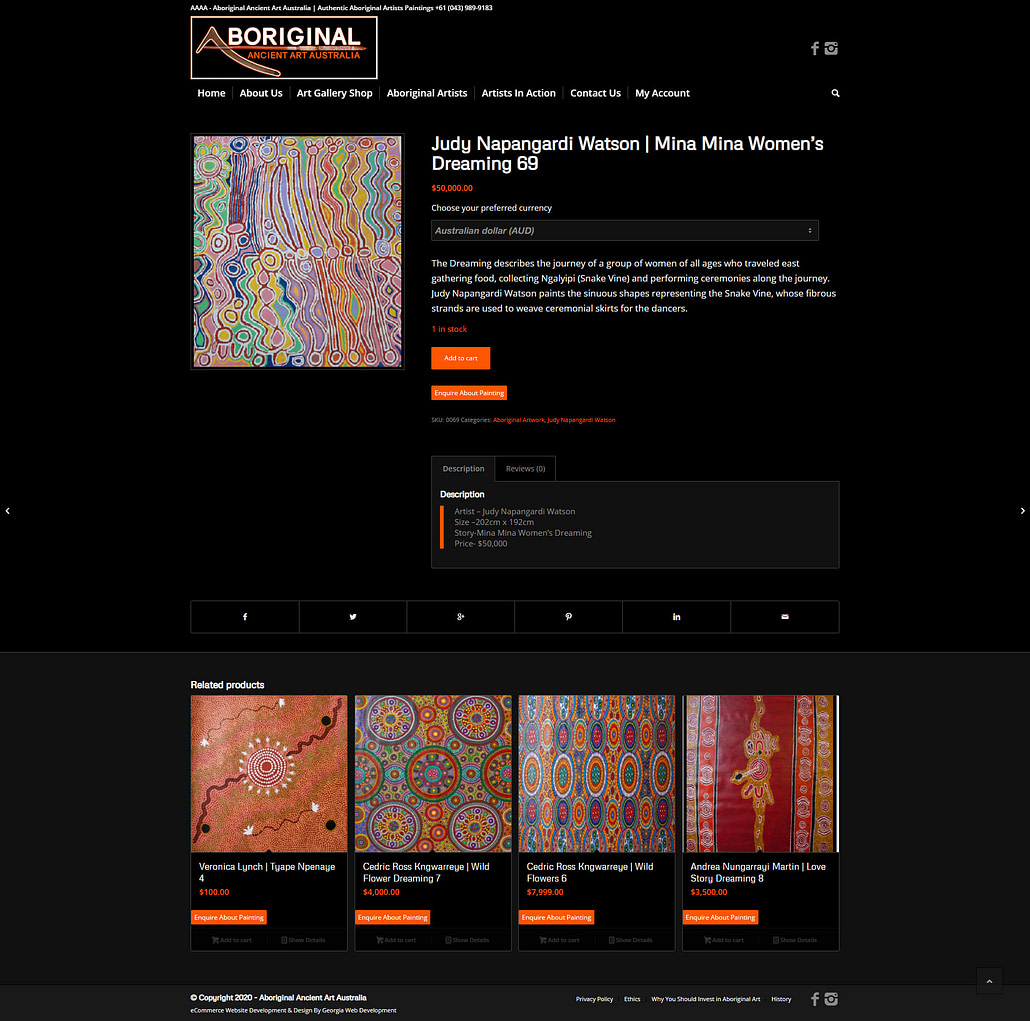 image of aboriginal-Ancient-Art-Australia-featured-project-product-page-2020-georgia-web-development